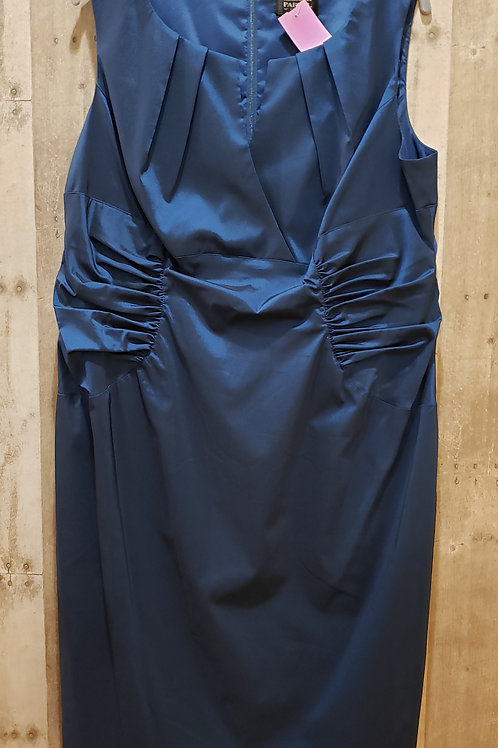 Adrianna Papell Satin Ruched Dress Size 16
