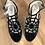 Thumbnail:  Unique Vintage Black Spider Web Heels sz 9