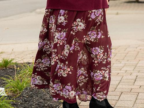 Torrid Floral Maxi Skirt sz 2
