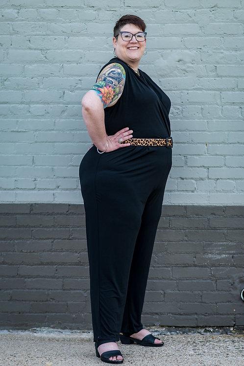 NWT Lane Bryant Black Stretch Jumpsuit Size 22/24