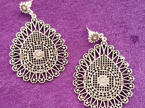 Rhinestone Costume Earrings
