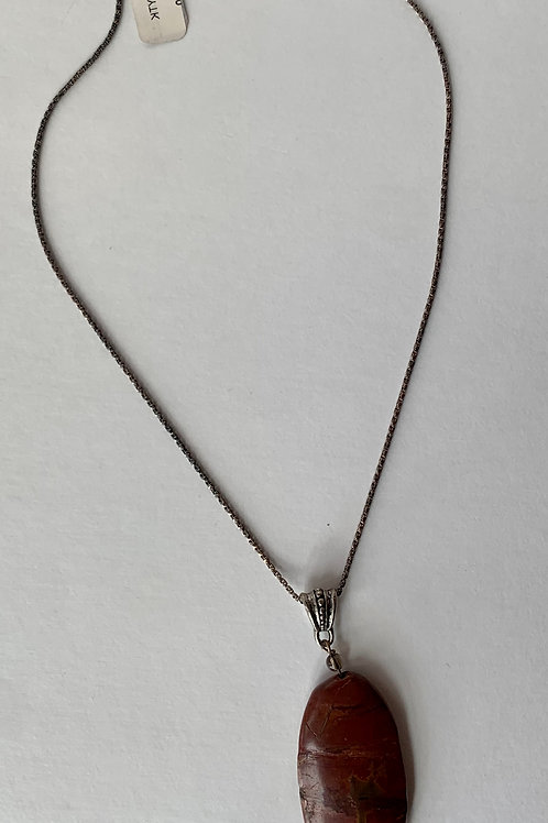 .925 Sterling Silver and Jasper necklace