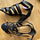 Thumbnail: Crown Vintage strappy heels size 8