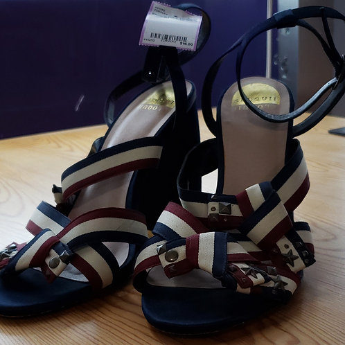 Eloquii Red, White & Blue Ribbon Shoes Size 11W