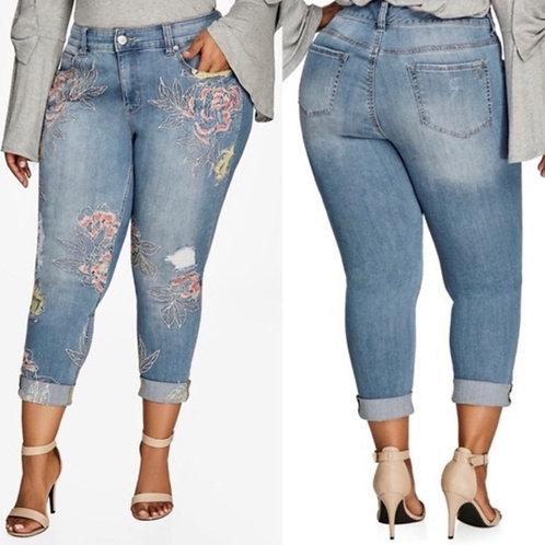 Melissa McCarthy Skinny Jeans Sz 24