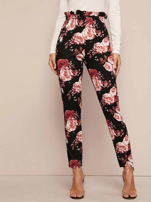 Shein Paperbag Floral Pants sz 3x