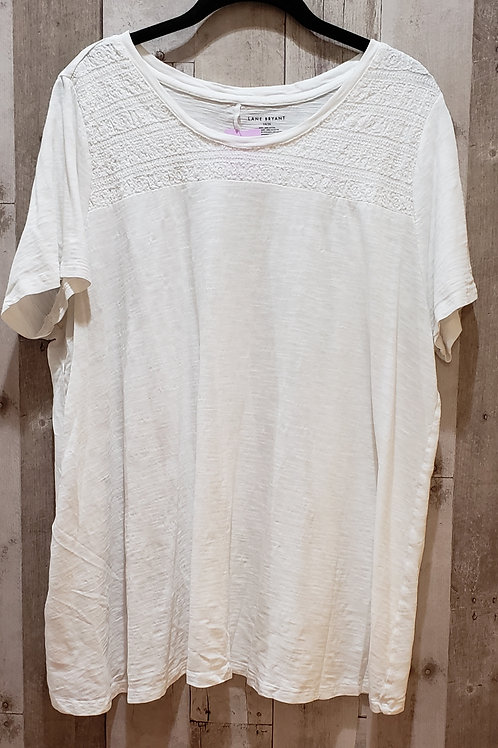 Lane Bryant 100% Cotton Top w/Embroidered Detail Size 14/16