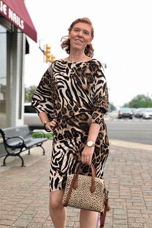 Symphony Animal Print Dress sz L
