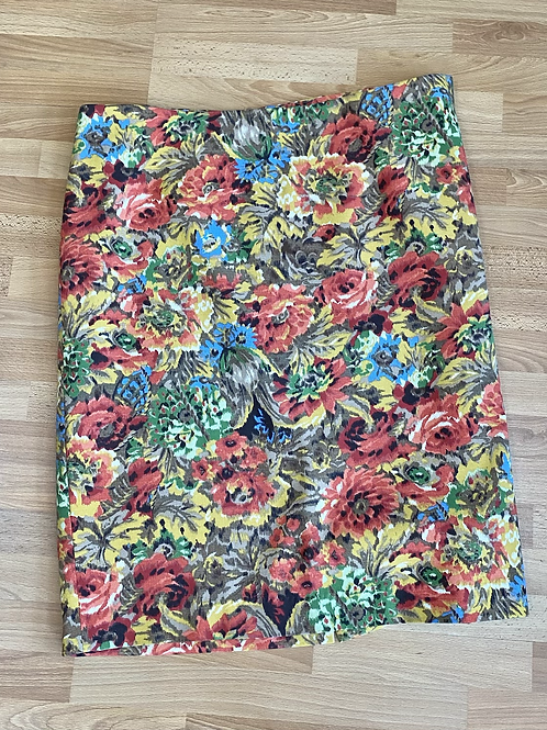 Talbots floral skirt size 16