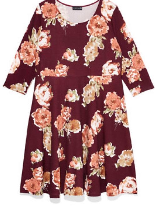 Ryan Wythe Raleigh Floral Fit & Flare Dresssz 2X