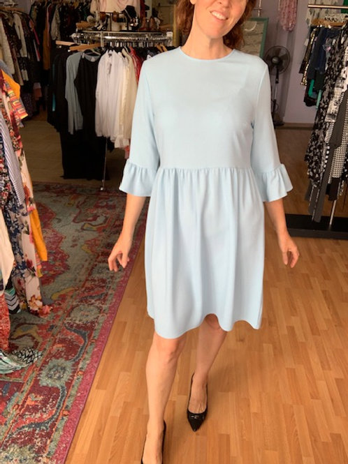 Crepe Dress with Bell Sleeves sz Large