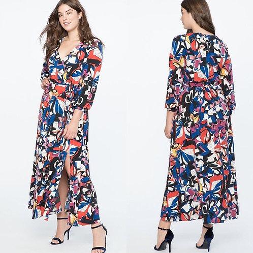 Eloquii Havana Floral Print Maxi Dress sz 20