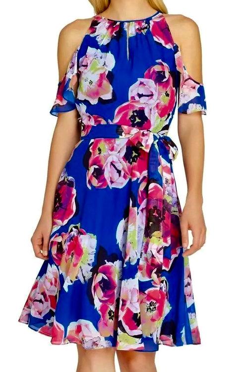Tahari Floral Cold Shoulder Dress: NWT!