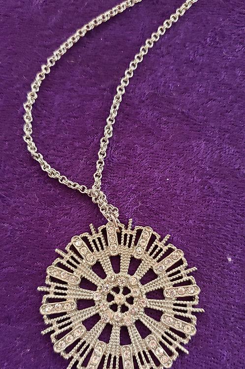 Silver-Tone Burst Necklace