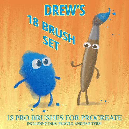 DREW'S 18 Brush PROCREATE MINI PACK