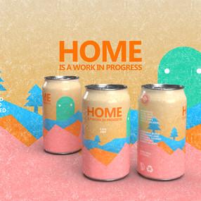 Home Is A Work In Progress beer design