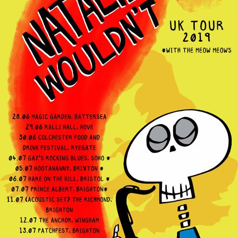 Natalie Wouldn't UK Tour 2019 poster v1