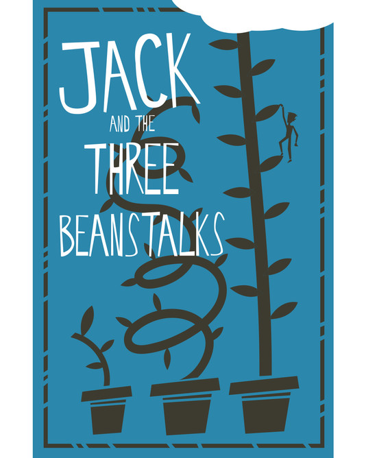 Jack and the Three Beanstalks book design