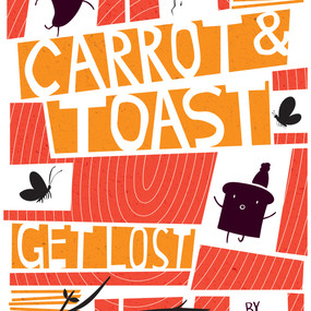 Saul Bass inspired Carrot and Toast book cover