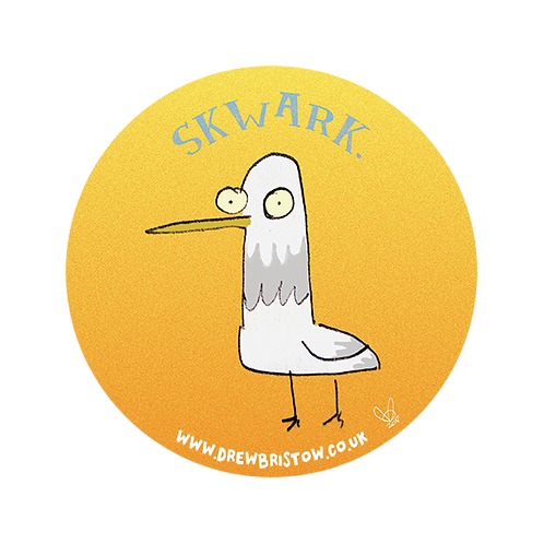 'SKWARK' crazy seagull 38mm badge