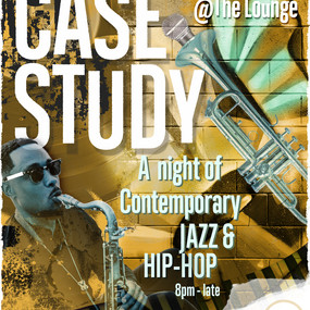 'CASE STUDY' Music night poster design