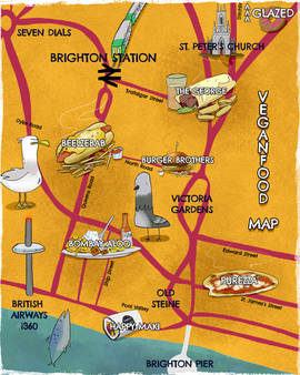 Vegan Food Map of Brighton WIP