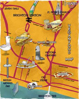 Vegan Food Map of Brighton WIP