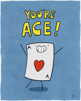 You're Ace - card