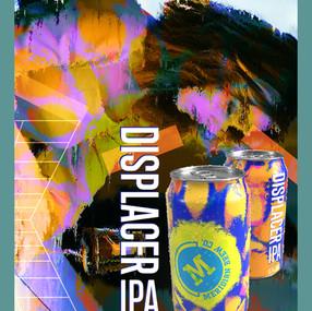 DISPLACER IPA - craft beer design advert