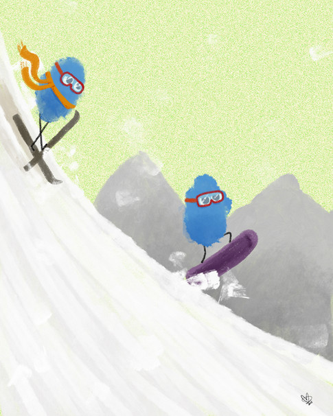 Snowboarding Blubz