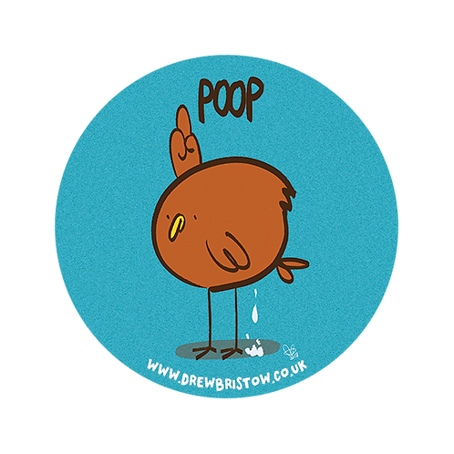'POOP' 38mm badge