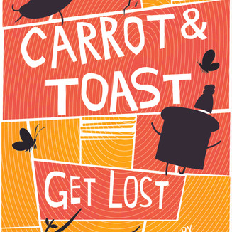 Carrot & Toast book cover inspired by Saul Bass