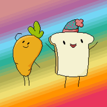 Carrot and Toast pixel art