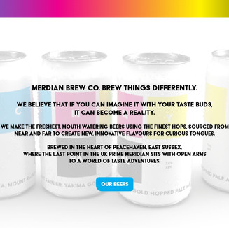 Meridian Brew Co. welcome page