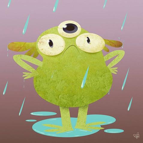 Grump in the rain