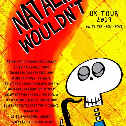 Natalie Wouldn't UK Tour 2019 poster v3