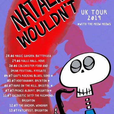 Natalie Wouldn't UK Tour 2019 poster v2