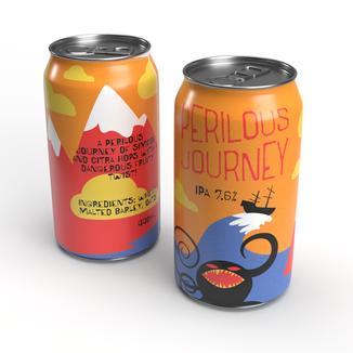 Perilous Journey beer design