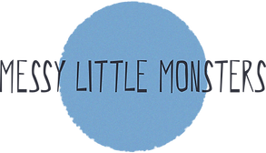 Messy Little Monsters Button