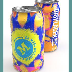 DISPLACER IPA craft beer design mockups