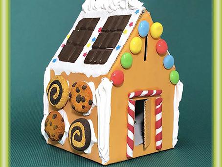 『冬のワークショップ』どんなお菓子で飾ろうかな♪ お菓子風の家づくり!