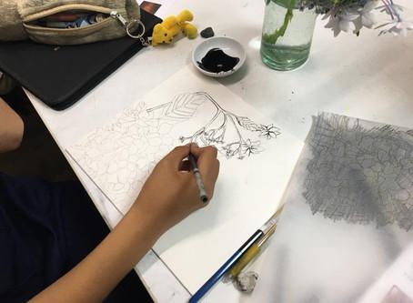 【芸大美大美術系高校受験科】日本画実習の取り組みその1