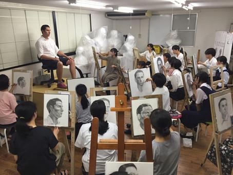 中高生クラス人物画実習