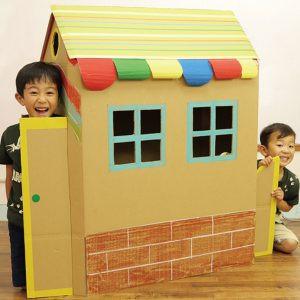 H.親子で作ろう!段ボールのマイホーム