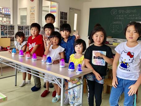 【サマースクールレポ】かき氷ランプ@宇品教室