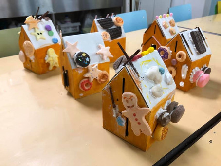 【冬のワークショップ】お菓子の家②