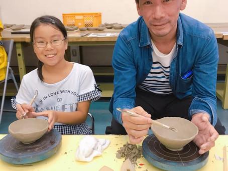 【サマースクールレポ】親子で陶芸中級♪