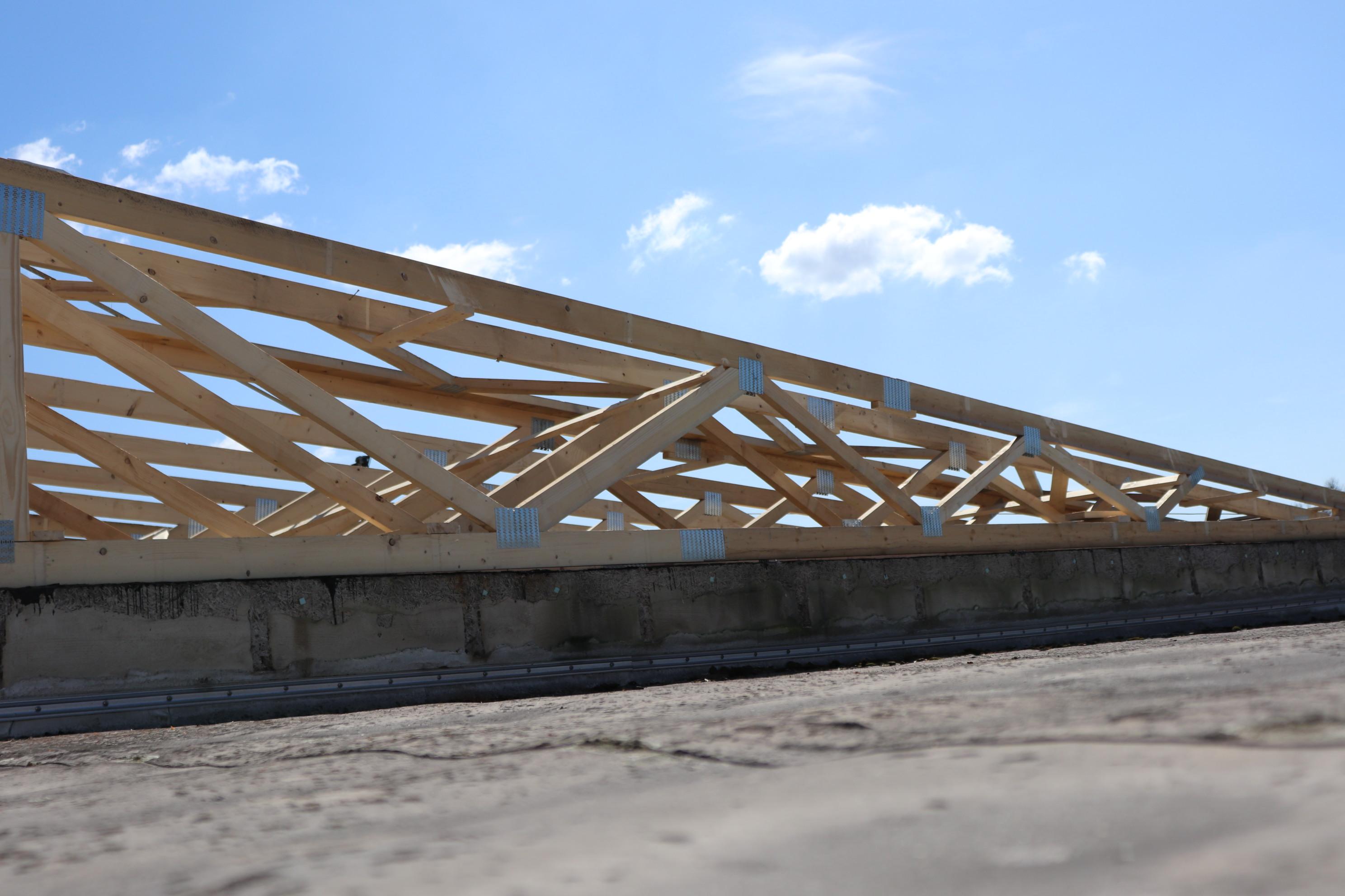 Sanierung Flachdach mit Binderkonstrukti