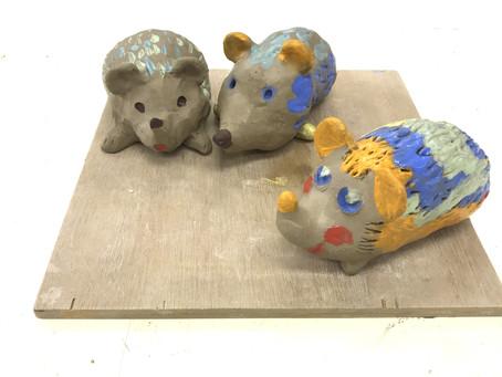 窯場レポート(冬のワークショップ2019)「陶のハリネズミ」