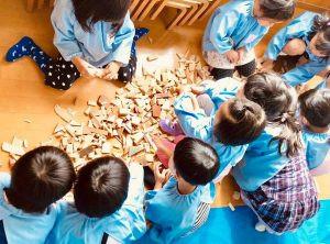 山口県の幼稚園で出張レッスン